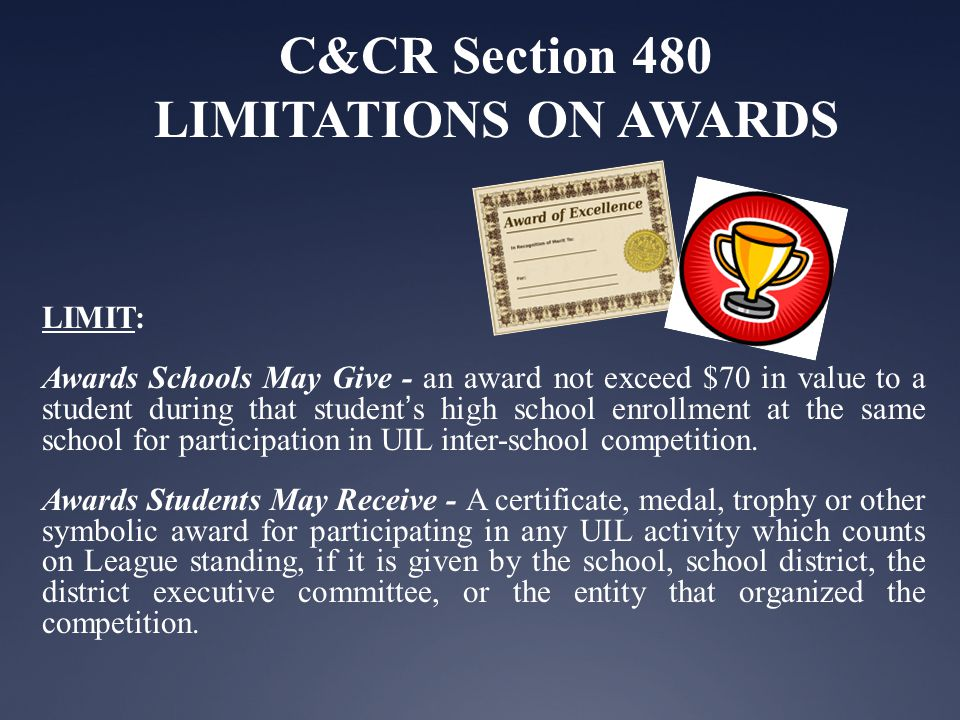 C&CR Section 441 AMATEUR ATHLETIC STATUS Amateur Rule Valuable consideration that school teams and athletes CAN accept- Examples of additional items deemed allowable under this interpretation if approved by the school, include but are not limited to: 1.