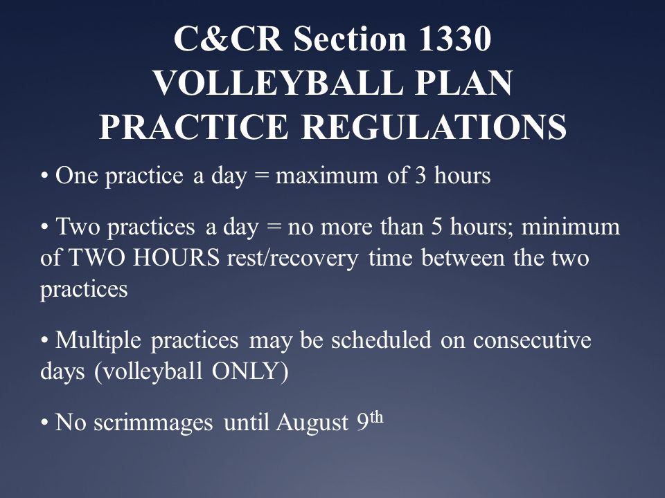 Volleyball Coachs Manual Game Definitions and Regulations Single match - A single match shall be defined as: NFHS Rule 1-2-1, 2, 3 Art.