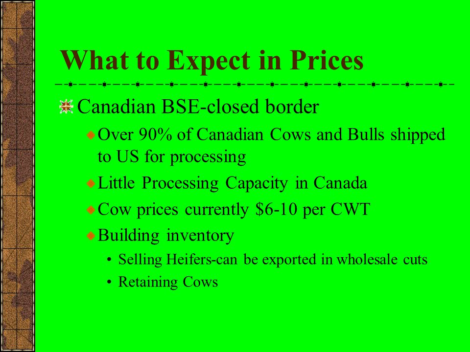 What to Expect in Prices Will the Canadian border stay closed?.