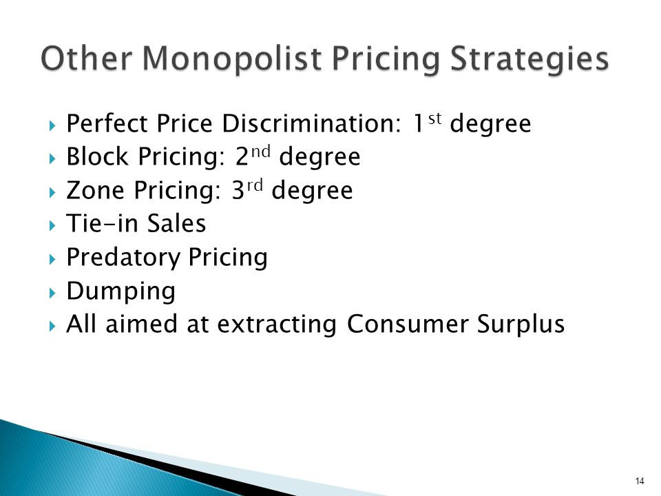 To be a successful price discriminator, a seller must satisfy three conditions: (1) to have market control and be a price maker, (2) to identify two or more groups that are willing to pay different prices, and (3) to keep the buyers in one group from reselling the good to another group.