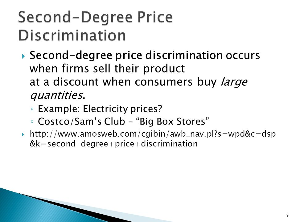 Under third-degree price discrimination, a firm charges different prices in different markets for their product.