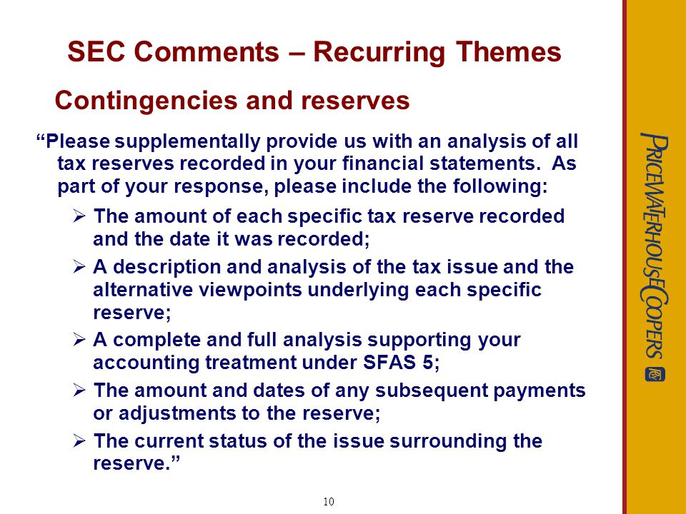 11 SEC Comments – Recurring Themes Common deficiencies found in MD&A: Lack of transparency Lack of related party disclosures Disclosure of non-GAAP measures Omission of forward looking information MD&A