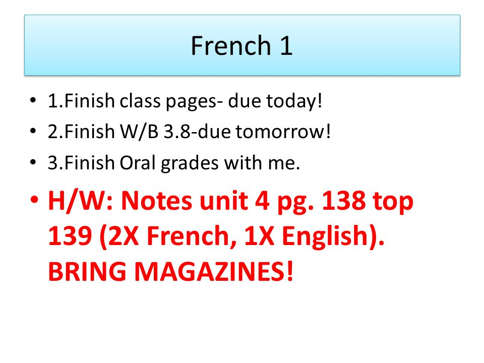 French 1-Body collages coming up! Bring your magazines tomorrow-70%