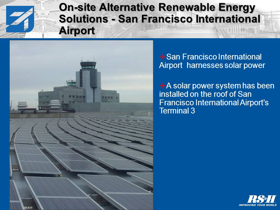 Project San Francisco International Airport installed a 445kW solar array.