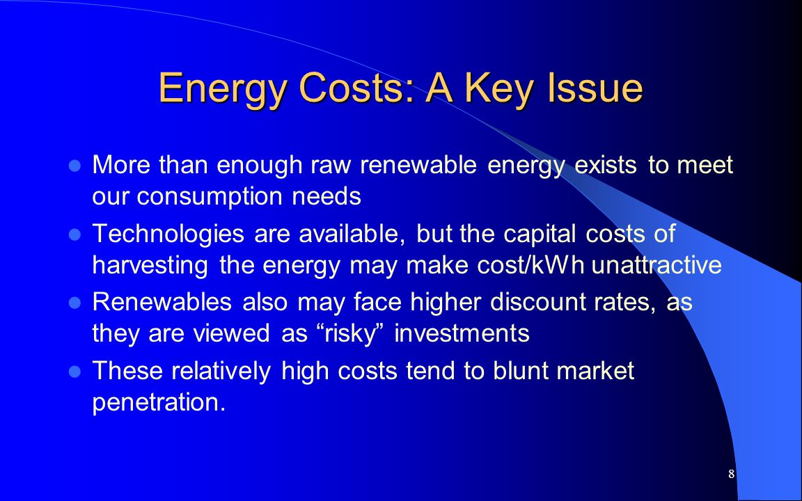 9 Calculating Costs Cost, $/kWh = [(fuel cost, $/BTU) x (Plants heat rate, BTU/kWh)] + other variable costs [e.g.