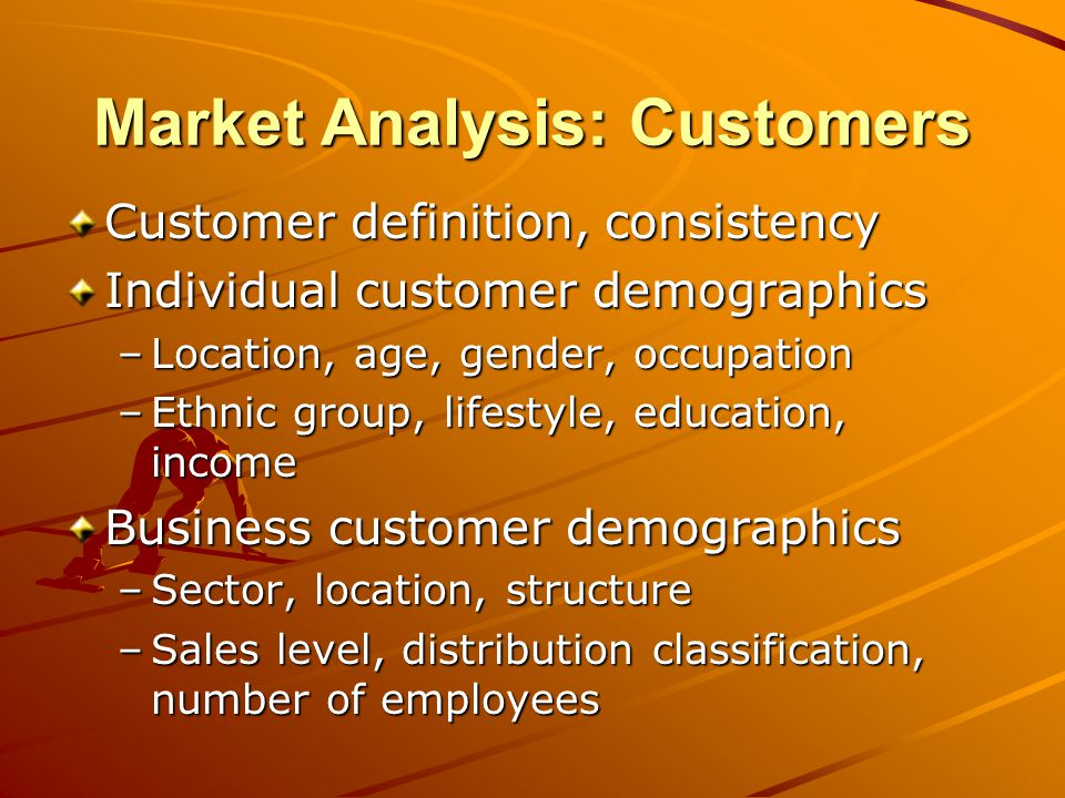 Sample: Market Analysis The child care industry is an ever expanding segment of todays business world necessitated by the increase in families who have two working parents.
