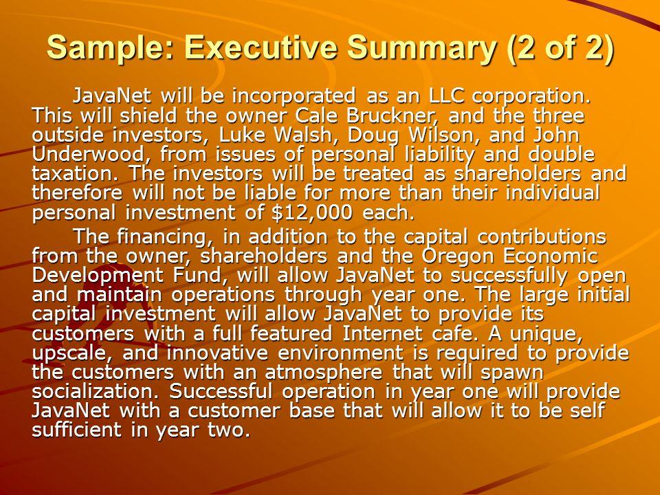 planning Summary Slide