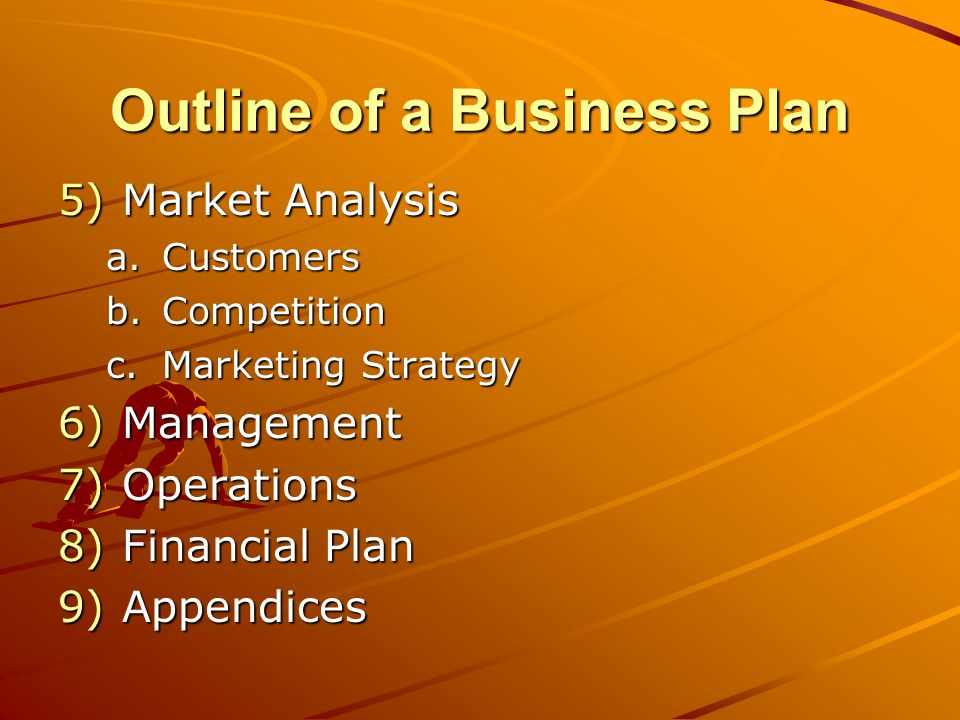 Cover Sheet Identity information –The words Business Plan –Your name and business name –Company logo –Address –Telephone number –Fax Number –Email Address –Web Address (URL) Submission date Looks vs.