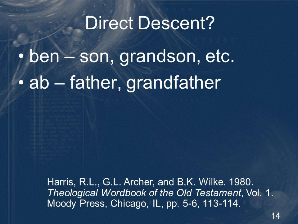 15 Direct Descent.