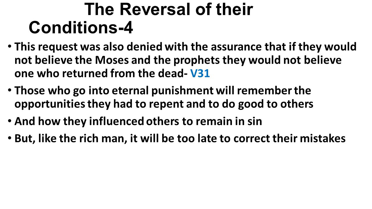 Lessons from the Rich Man and Lazarus 1.