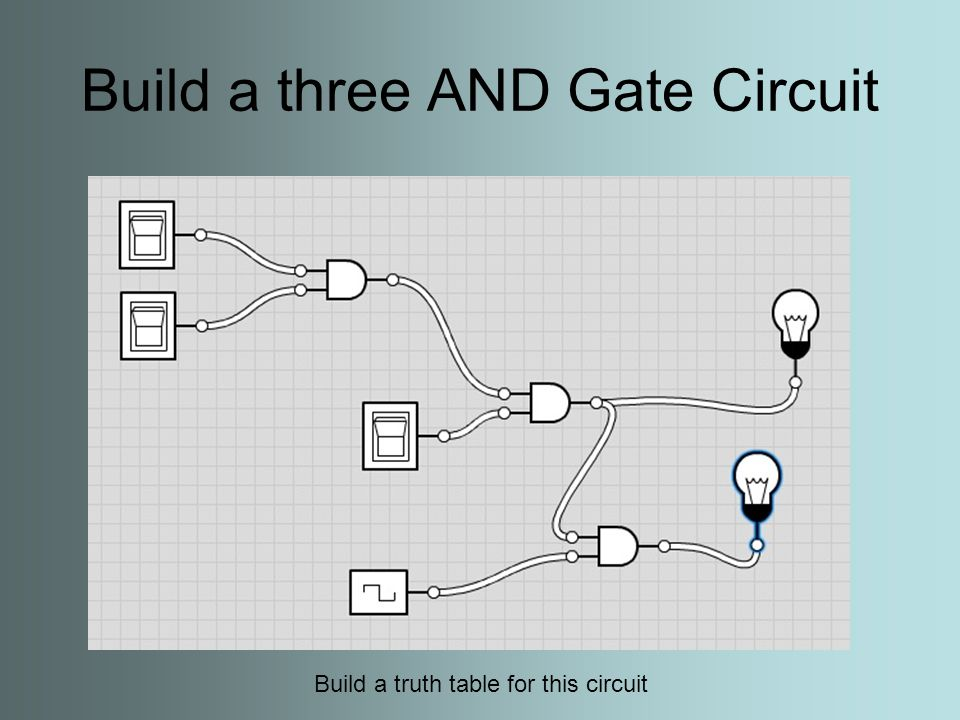 Build a Single OR Gate Build a truth table for this circuit