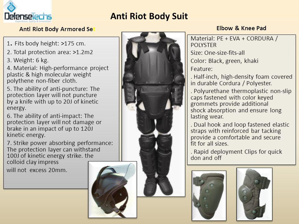 Combat overhaul dress Anti Riot Personal Equipment Elbow & Knee Pad Gas Mask Anti Riot Helmet Shills Batons 38/40mm Launcher