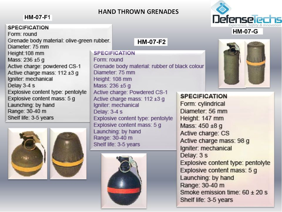DESCRIPTION This grenade contains a flash charge which produces a bright flash and a loud bang.