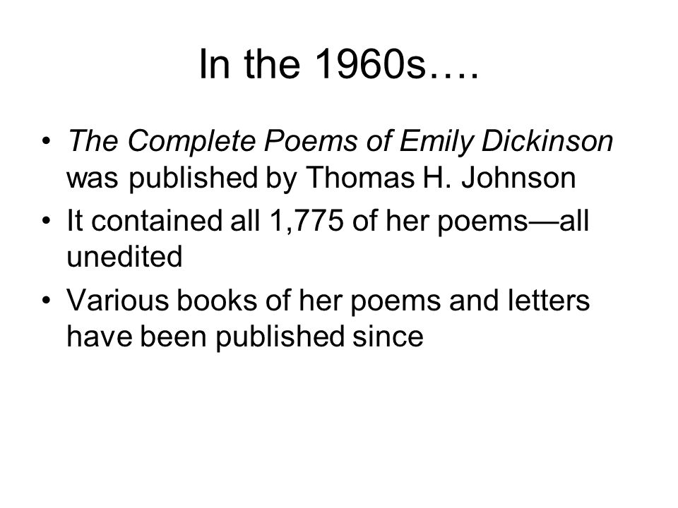 Dickinsons poetry is known for Random capitalization Unconventional broken rhyming meter Use of Dashes No titles Unconventional punctuation Use of metaphor
