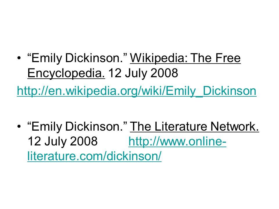 http://www.emilydickinsonmuseum.org/lett ershttp://www.emilydickinsonmuseum.org/lett ers http://www.newyorker.com/arts/critics/book s/2008/08/04/080804crbo_books_thurman