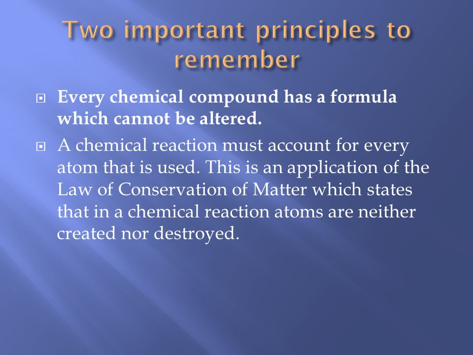 Every chemical compound has a formula which cannot be altered.