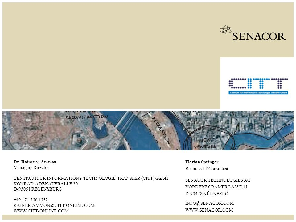 SENACOR TECHNOLOGIES AG Event-Driven Busines Process Management taking the example of DHL R.