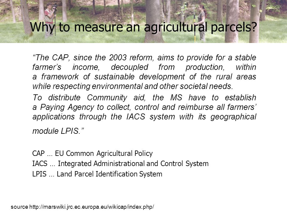 How to measure an agricultural parcels.