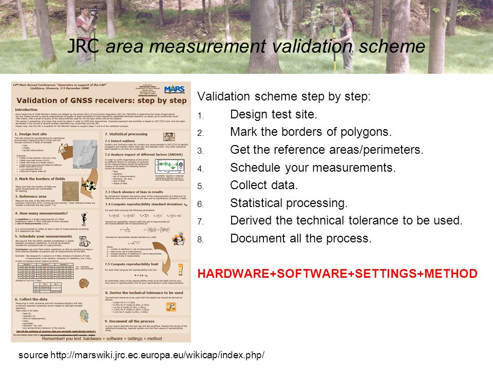 Why/How to measure a forest parcels.