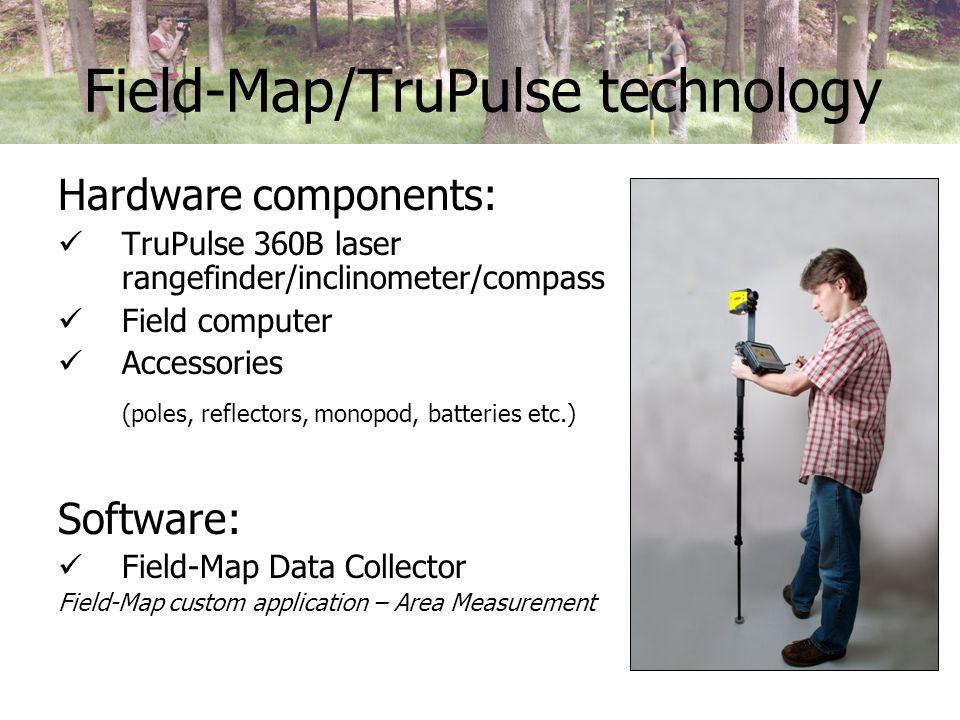 Field-Map/TruPulse validation Design the test site (= establish a set of test polygons).