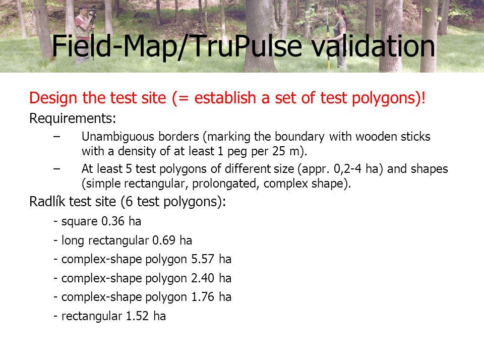 Field-Map/TruPulse validation Mark the borders of polygons!