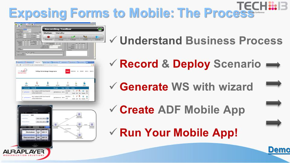 Choose the Oracle Forms business process to record Select input / Output data to capture from Forms Identify expected results – popups, messages, errors Understanding the Business Process