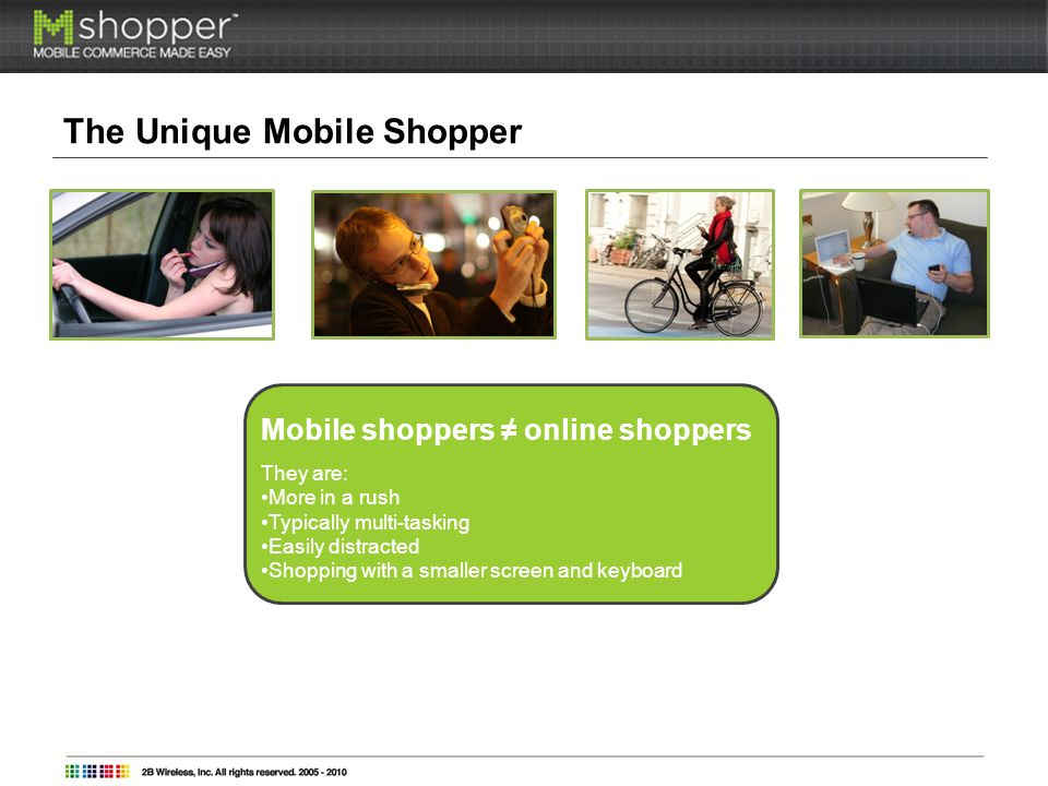 The Unique Mobile Shopper (continued) What mobile shoppers want from their favorite brands: I want to know first.