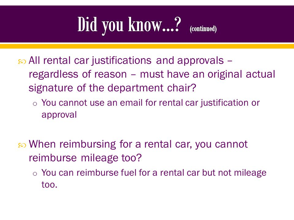 Rental car add-ons are not allowed.
