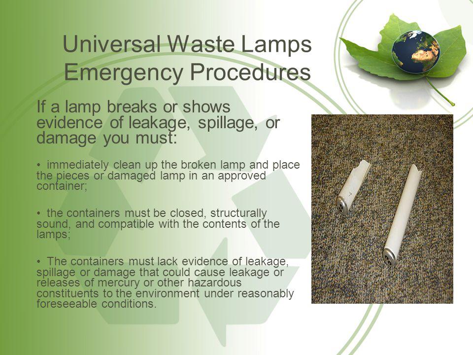 How should I clean up a broken fluorescent bulb.1.