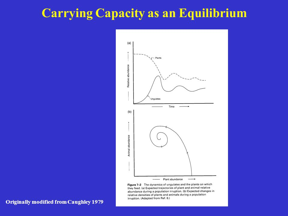 Originally modified from McCullough 1979 Application of Carrying Capacity with Environmental Variation