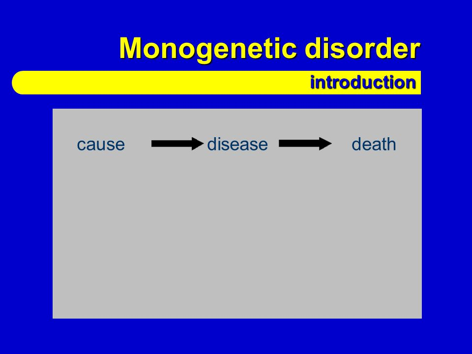 Monogenetic disorder introduction additional factors cause disease death