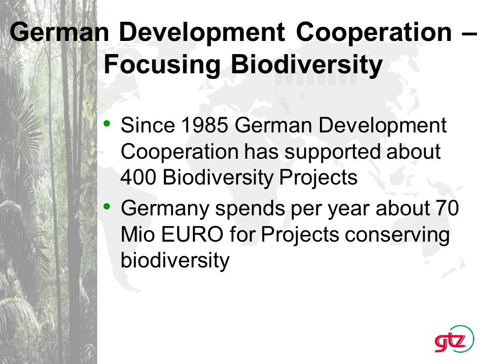 Regional Distribution of Biodiversity Projects: