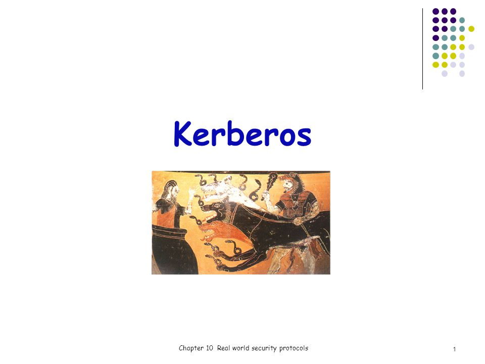 Kerberos Chapter 10 Real world security protocols 1