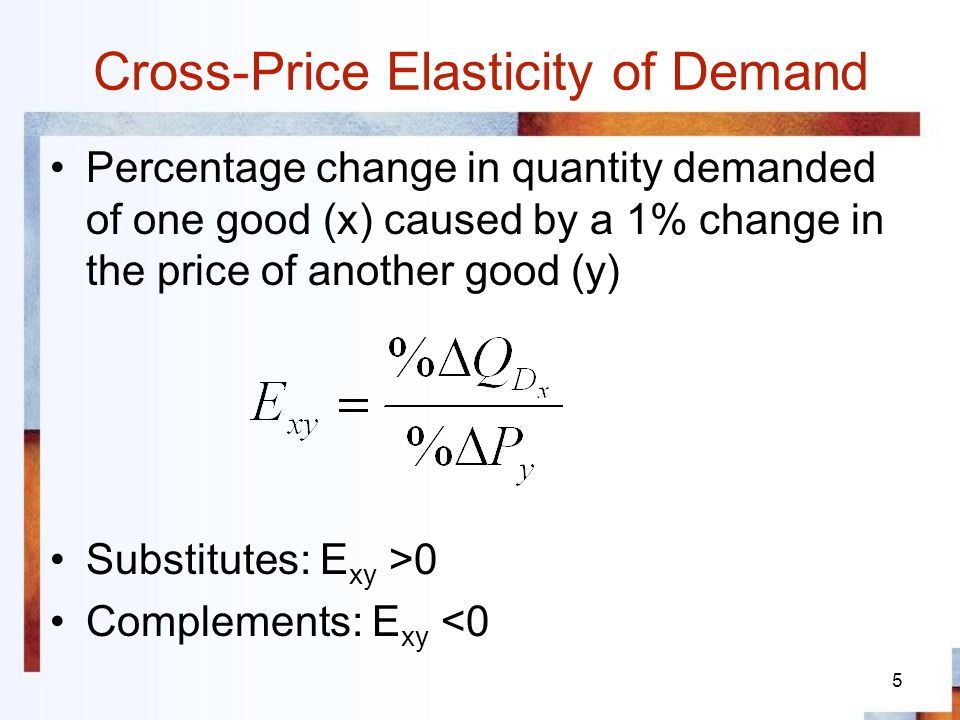 6 Price Elasticity of Supply Percentage change in quantity of a good supplied, caused by a 1% change in the price of the good The more easily suppliers can switch from/to alternate goods, the more elastic the supply