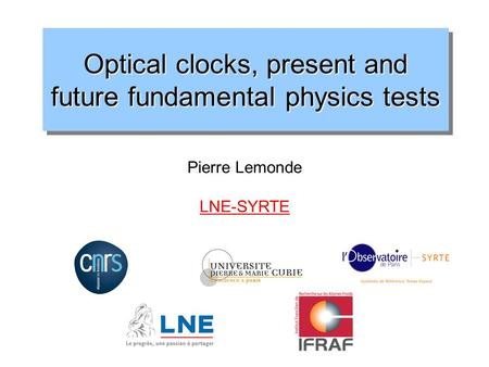 Optical clocks, present and future fundamental physics tests