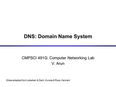dns slides Dns setup dns configuration dns configuration dns setup named daemon is used a dns server may be caching/master/slave server the named ca file has information of all root servers there is a forward zone file and a reverse zone file for every domain configuration file: /var/named/chroot/etc/ named.