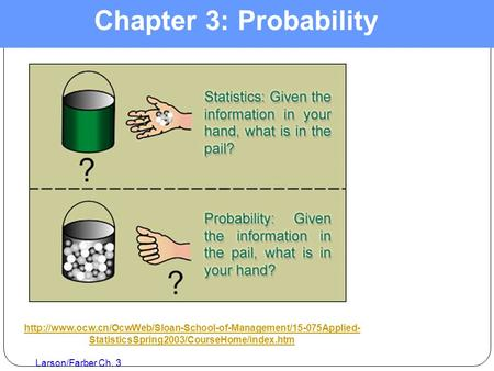 Larson/Farber Ch. 3 Chapter 3: Probability  StatisticsSpring2003/CourseHome/index.htm.