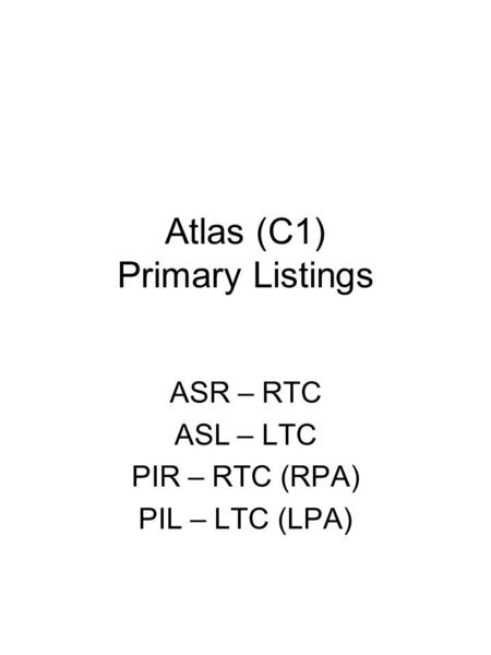 Atlas (C1) Primary Listings