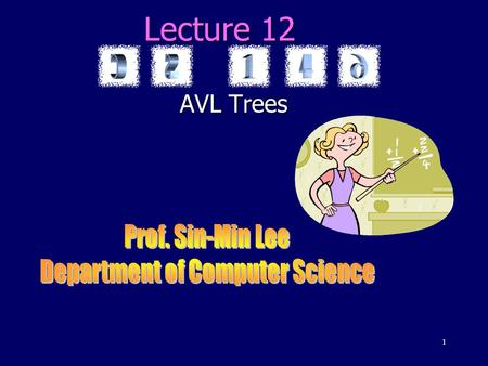 1 Lecture 12 AVL Trees. 2 trees static dynamic game treessearch trees priority queues and heaps graphs binary search trees AVL trees 2-3 treestries Huffman.