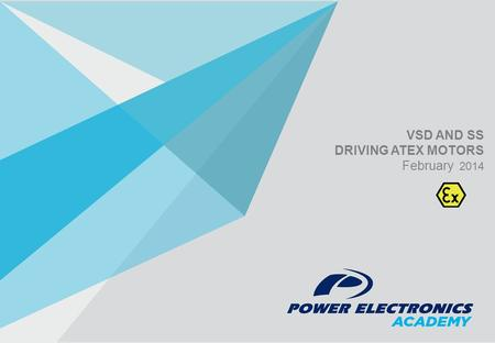 VSD AND SS DRIVING ATEX MOTORS February 2014. 1 Introduction to ATEX 2 ATEX motor designation 3 VSD Sample Solutions 4 SS descriptions.