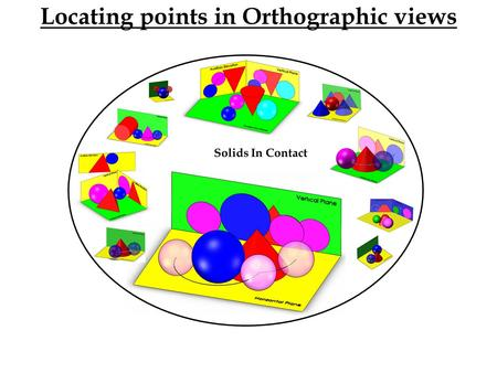 Solids In Contact Locating points in Orthographic views.