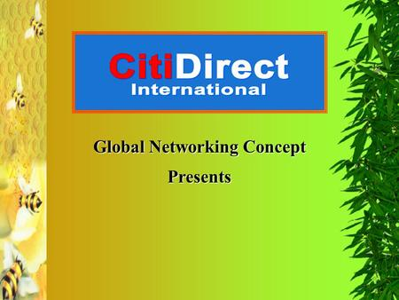 Global Networking Concept Presents. Bee Propolis.