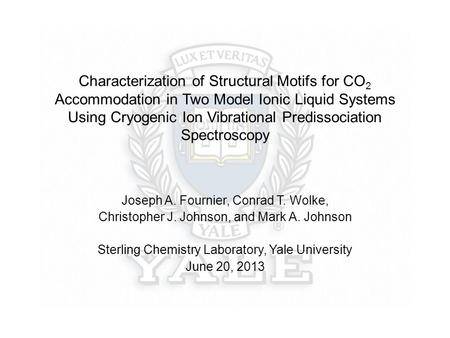 Characterization of Structural Motifs for CO 2 Accommodation in Two Model Ionic Liquid Systems Using Cryogenic Ion Vibrational Predissociation Spectroscopy.
