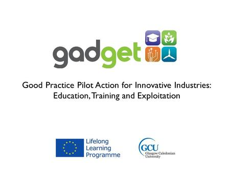 Good Practice Pilot Action for Innovative Industries: Education, Training and Exploitation.