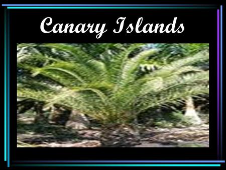 Canary Islands. Flag of Canary Island Map of Canary Islands.