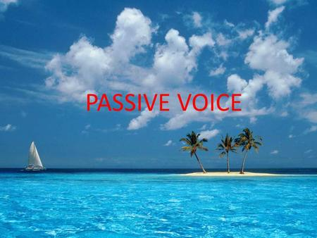 PASSIVE VOICE Simple Present Tense In Passive Voice Rumus : Noun + is, am, are + past participle S + is, am, are + VIII + by + O Example : Aktif : He.