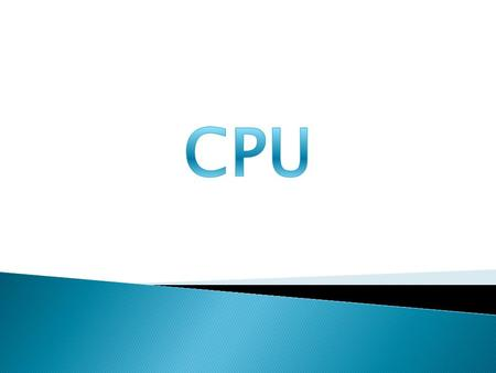  - Arithmetic and Logic Unit (ALU)  - Control Unit (CU)  - Registers  - CPU Interconnections.