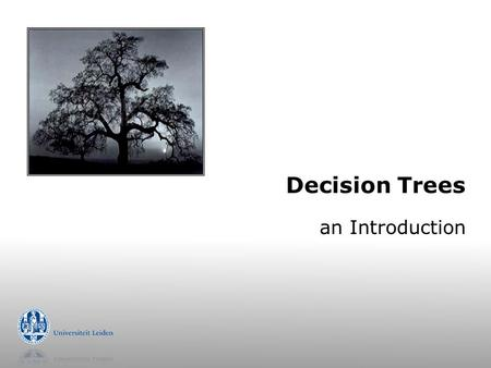 Decision Trees an Introduction.