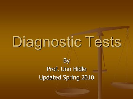 By Prof. Unn Hidle Updated Spring 2010