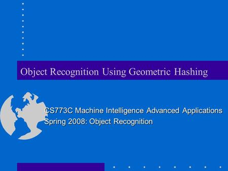 Object Recognition Using Geometric Hashing